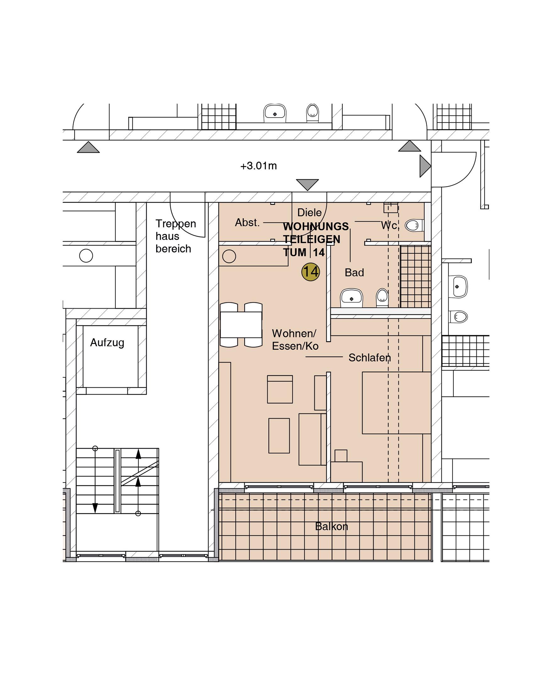 nowiBAU Grundriss einer Wohnung