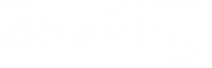 nowiBAU Logoschriftzug in weiß