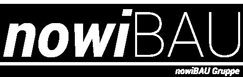 Logo nowiBAU weiß