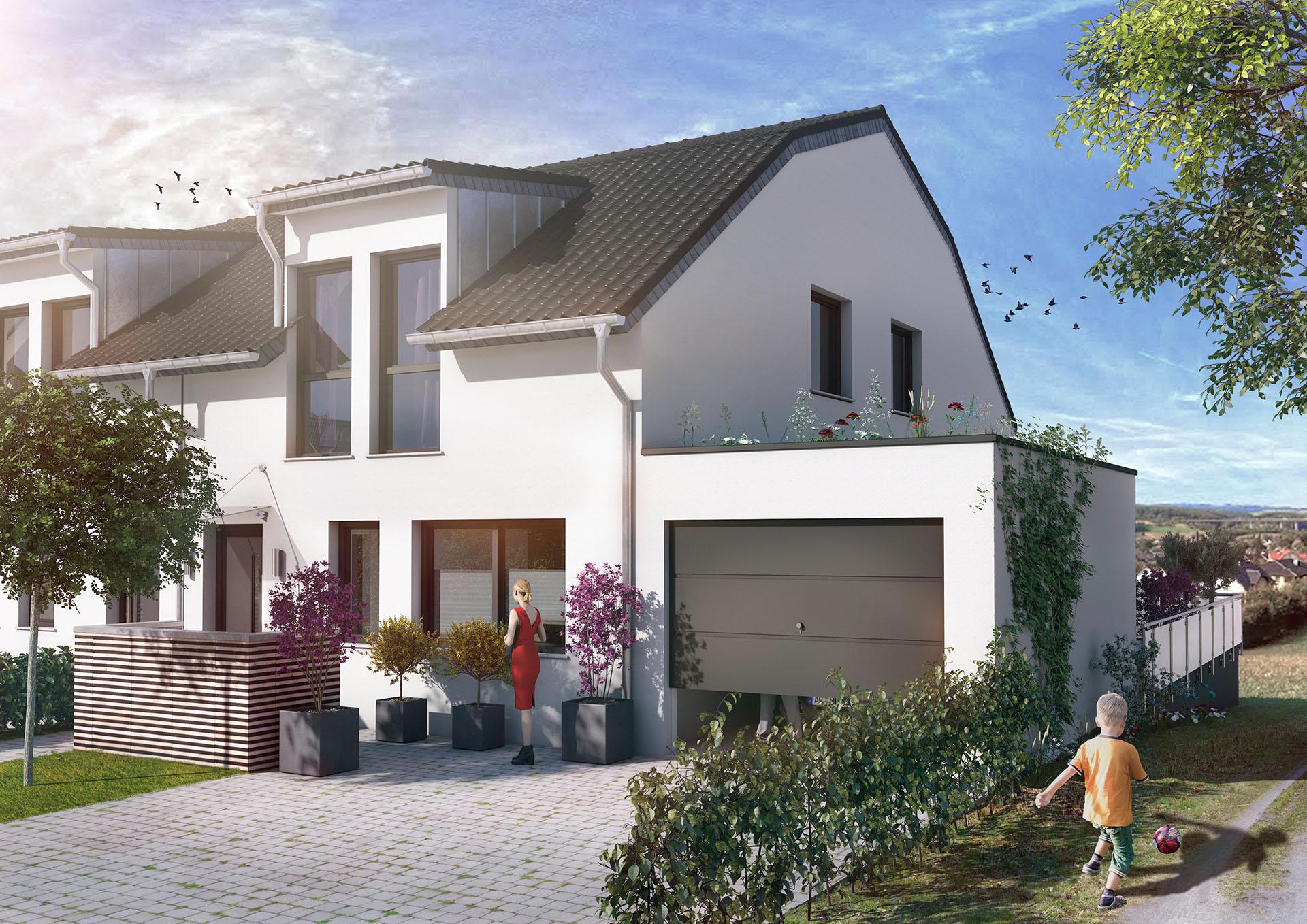 Ein Foto von einem Haus