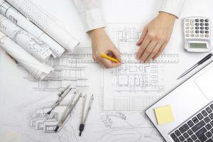 Bild eines Bauplans